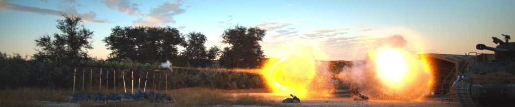 Tank shooting. Image Credit: The Slow Mo Guys.