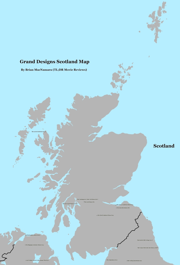 Scotland Grand Designs Map. Image Credit: Brian MacNamara