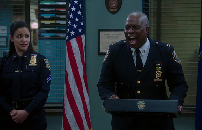 Brooklyn Nine-Nine: Sicko & Suicide Squad. Image Credit: NBC.