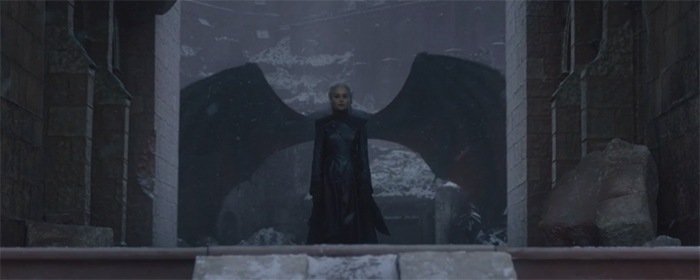 Daenerys (Emilia Clarke) in Game of Thrones: The Iron Throne. Image Credit: HBO.