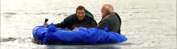 Man vs. Wild with Bear Grylls and PM Modi. Image Credit: Netflix.