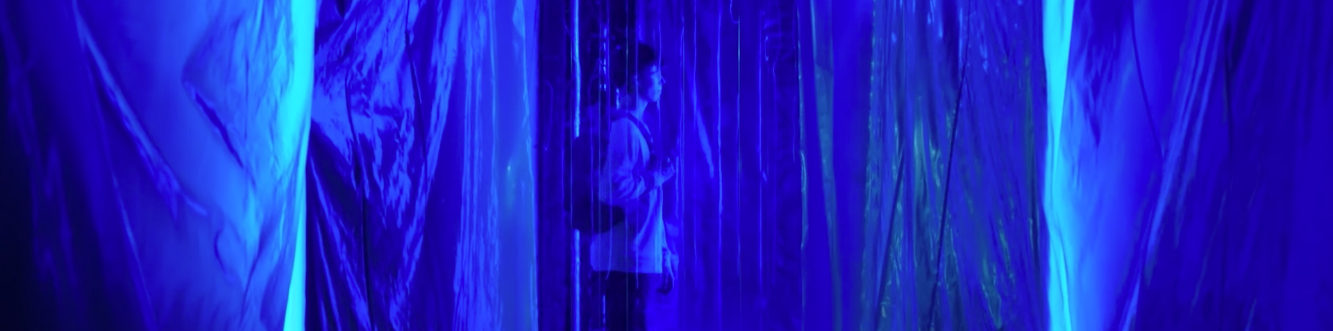 Sequin in a Blue Room. Image Credit: AFTRS.
