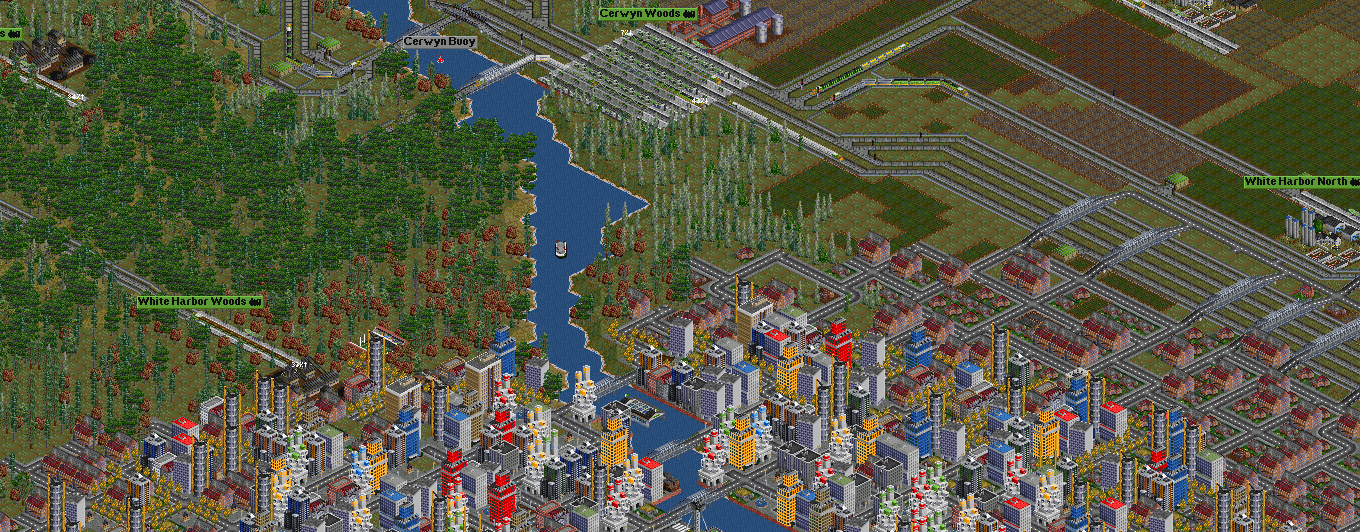 Transport Tycoon Deluxe/ OpenTTD. Image Credit: Chris Sawyer Productions/Microprose.