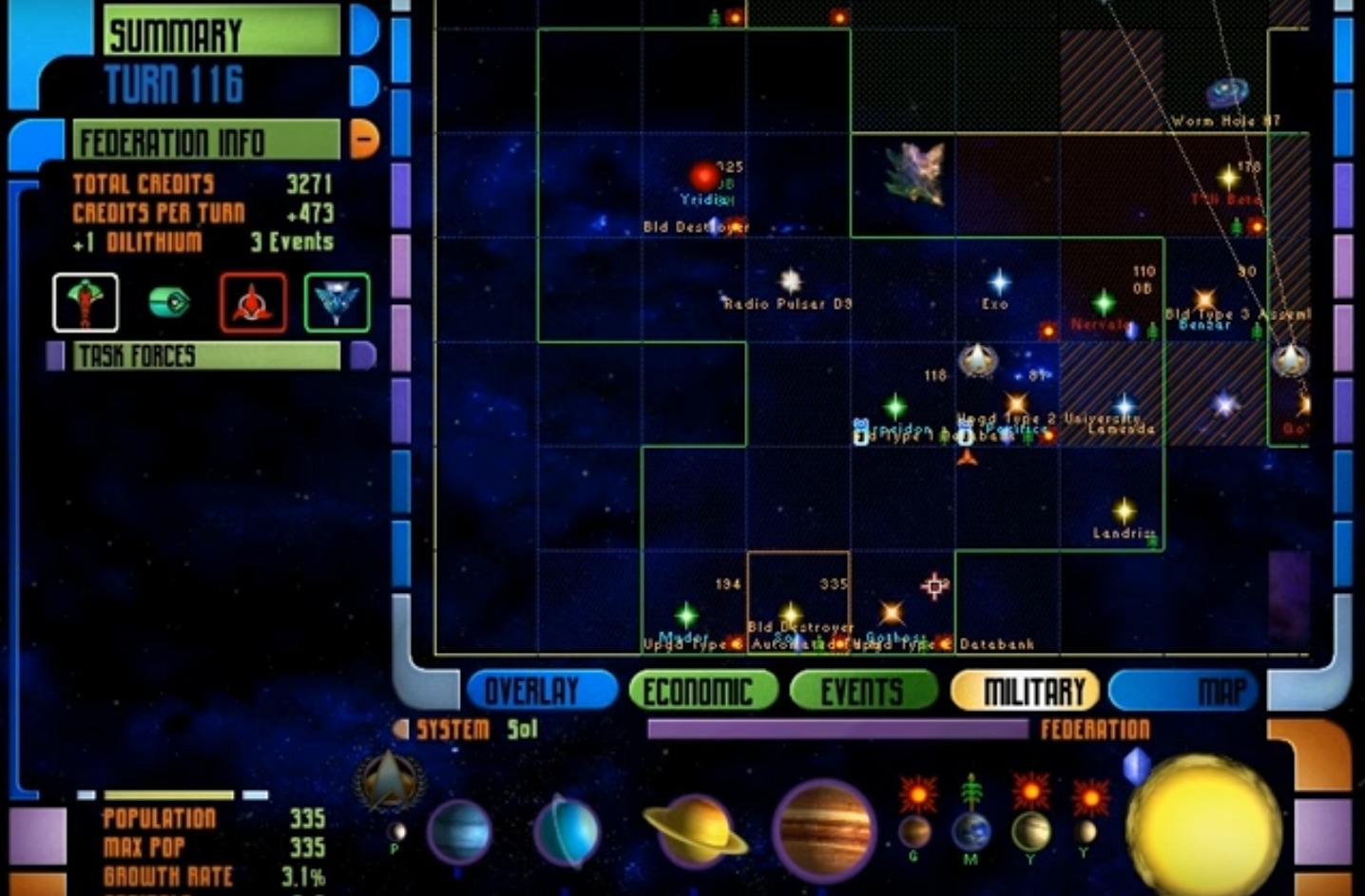 Star Trek: Birth of the Federation. Image Credit: Microprose/Hasbro. Image captured from: https://youtu.be/Fy3RnVJbZMs.