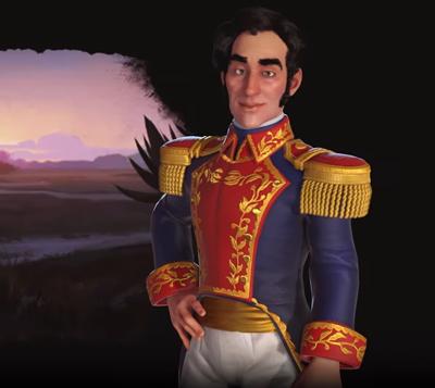 Simón Bolívar leader of Gran Colombia. Image Credit: Firaxis.