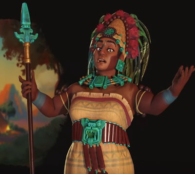 Lady Six Sky leader of The Maya. image credit: Firaxis Games.