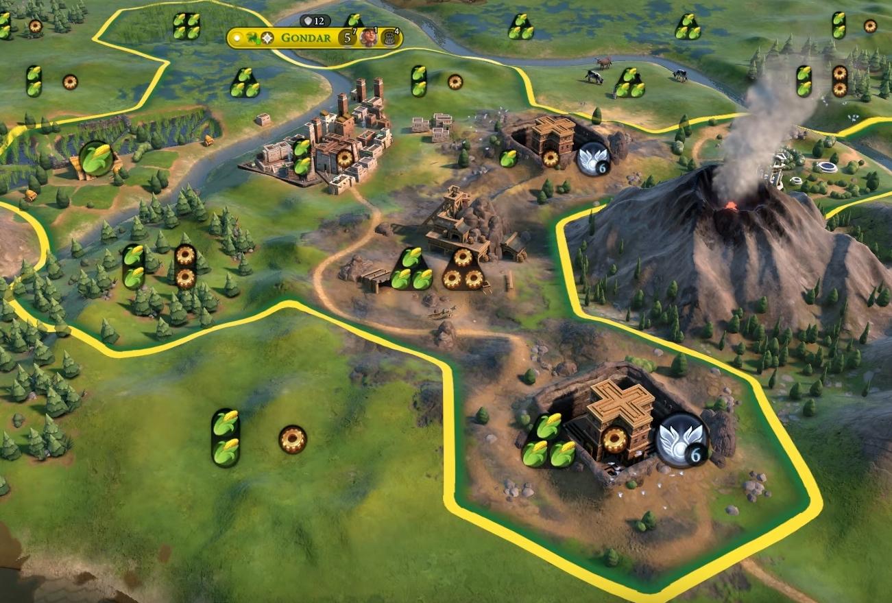 Ethiopia's Rock Hewn Churches in Civilization VI. Image Credit: Firaxis Games.