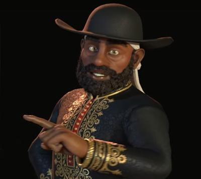 Menelik II of Ethiopia. Image Credit: Firaxis Games.