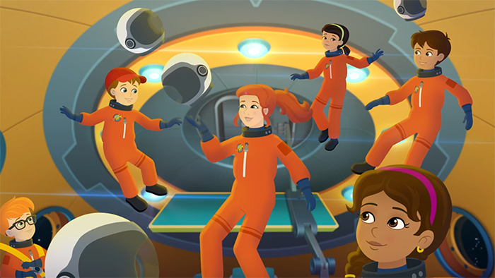 The Magic School Bus Rides Again Kids In Space. Image Credit: Netflix.