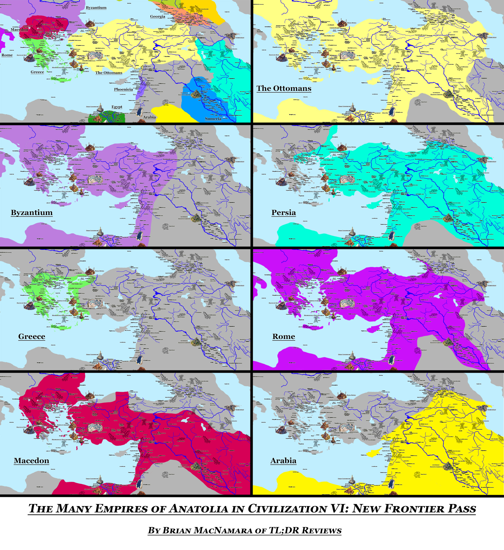 Civilization VI: New Frontiers Map - Anatolia. Image Credit: Brian MacNamara.