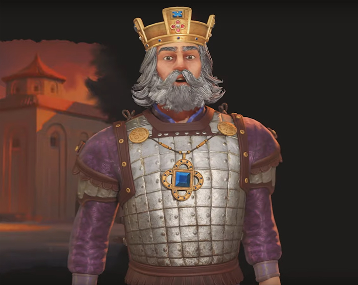 Basil II of Byzantium in Civilization VI. Image Credit: Firaxis Games.