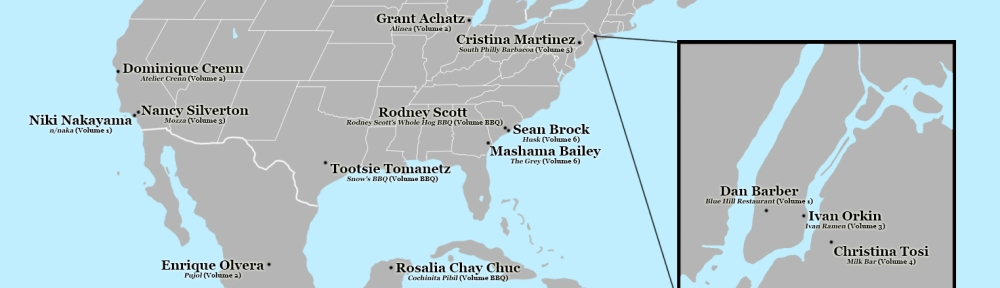 Chef's Table North America Map. Image Credit: Brian MacNamara.
