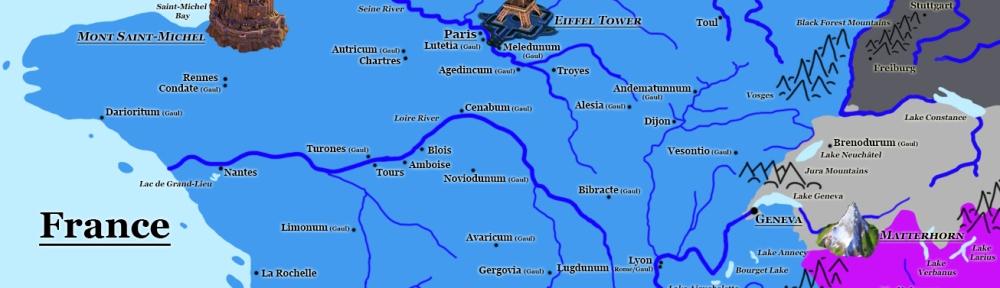 Civilization VI: New Frontiers Map - Gaul. Image Credit: Brian MacNamara.