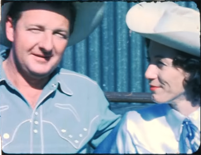 Slim Dusty and Joy McKean in Slim & I. Image Credit: Universal Pictures.