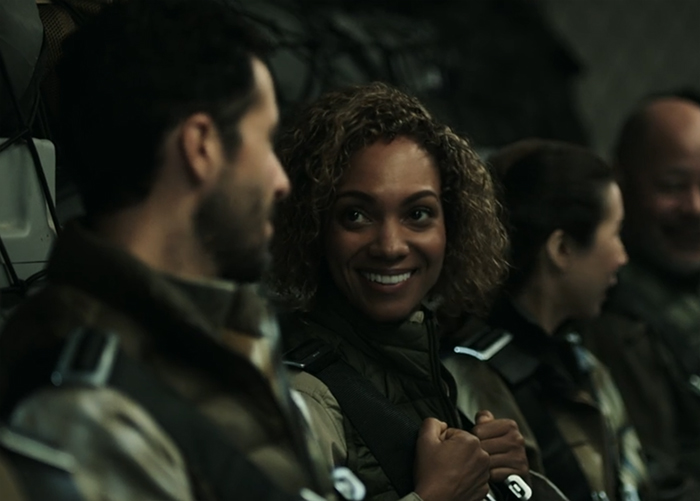 Elvi Okoye (Lyndie Greenwood) The Expanse. Image Credit: Amazon Studios.